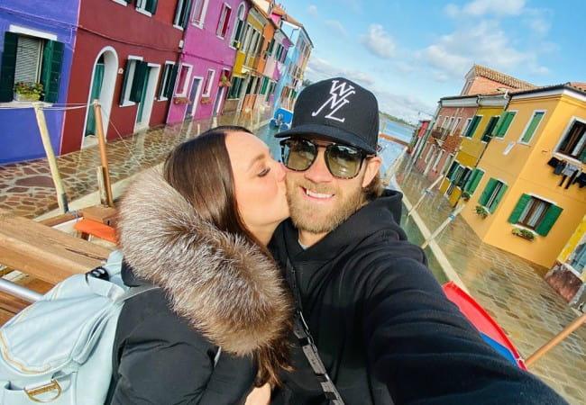 Bryce Harper and Kayla Varner in a selfie in November 2019