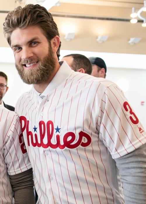 Bryce Harper in Philadelphia as seen in April 2019