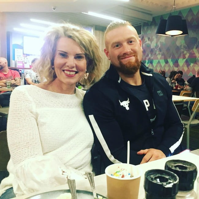 Buddy Murphy with his mother as seen in May 2019