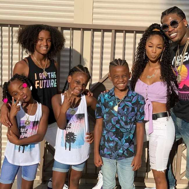 CJ So Cool with his family as seen in July 2019