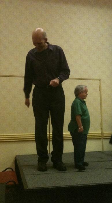 Carel Struycken as seen while standing tall alongside actor Felix Silla in September 2013