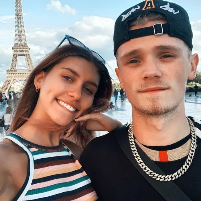 Charlie Lenehan with friendly, Girlfriend Ana Lisa Kohler