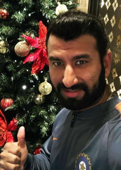 Cheteshwar Pujara in an Instagram selfie as seen in December 2018