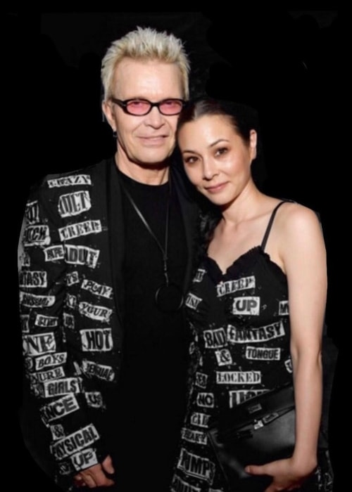 China Chow as seen in a picture taken with Billy Idol in June 2018