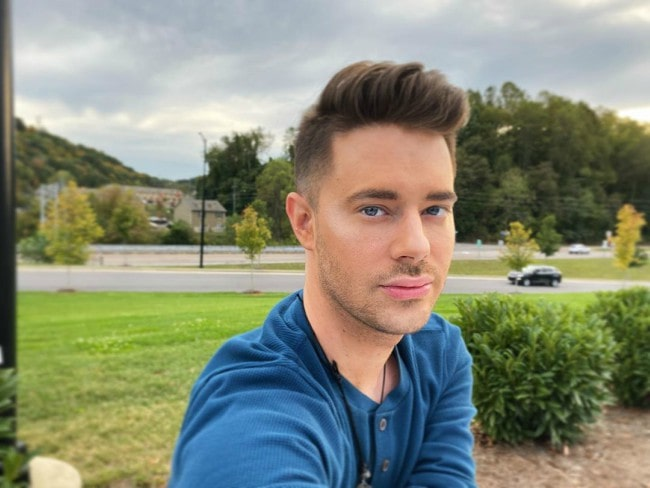 Chris Crocker in a selfie in October 2019