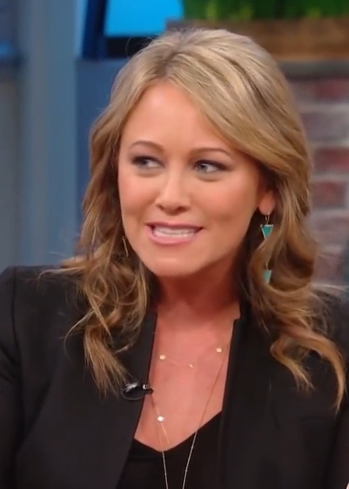 Christine Taylor during an interview as seen in 2016