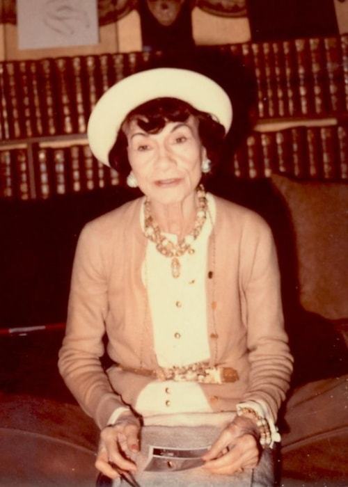 Coco Chanel as seen in a picture taken during the later years of her life