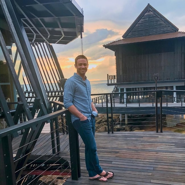 Cody Walker as seen while posing for the camera at The Ritz-Carlton in Langkawi, Malaysia in October 2019