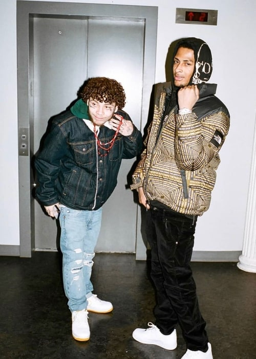 Comethazine (Right) as seen while posing for a picture in May 2019