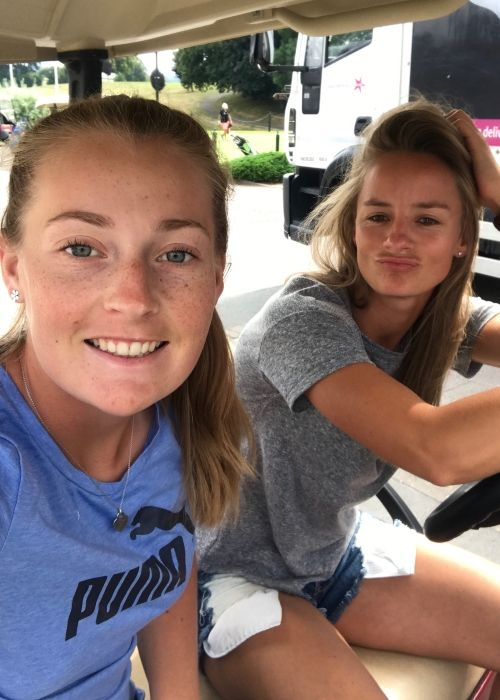 Danielle as seen with fellow English cricketer Sophie Ecclestone in July 2018