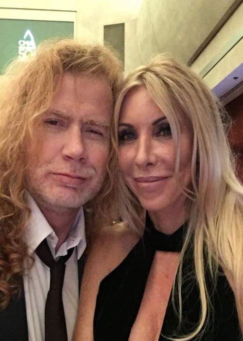 Dave Mustaine with his wife Pamela Anne Casselberry in an Instagram post in November 2016