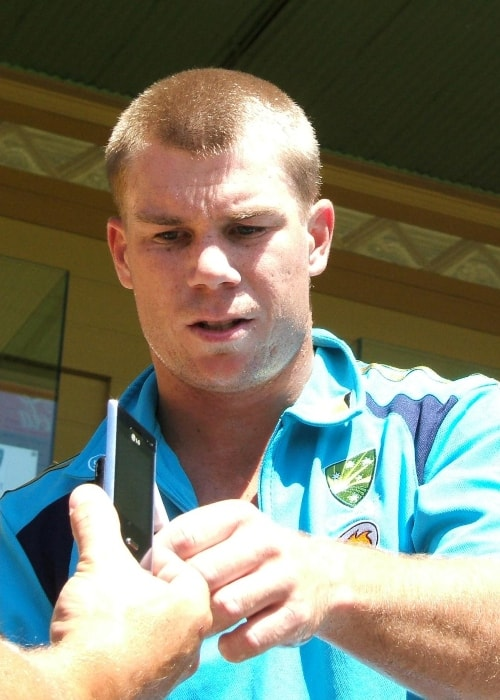 David Warner as seen in a picture taken during training session at the Adelaide Oval in January 2009