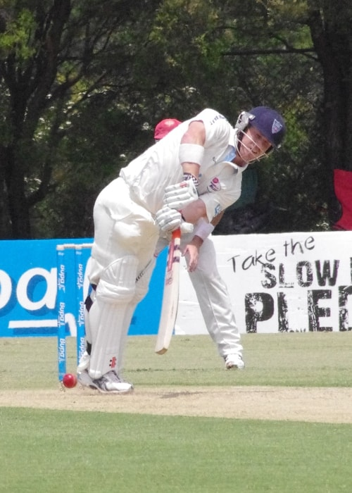 David Warner as seen in a picture taken while batting on November 2011
