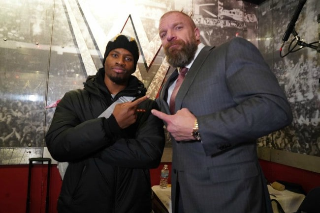 Denzel Curry (Left) and Triple H as seen in November 2019