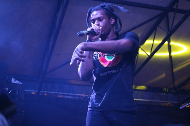 Denzel Curry during a performance in March 2017
