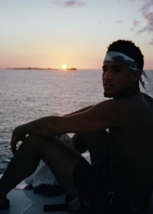 Devin Booker as seen in February 2019