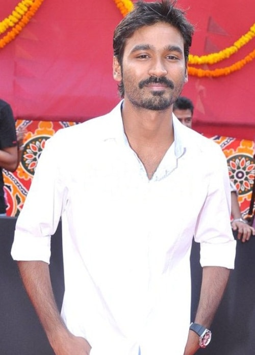 Dhanush as seen in a picture taken during the launch of his film Raanjhanaa in 2012