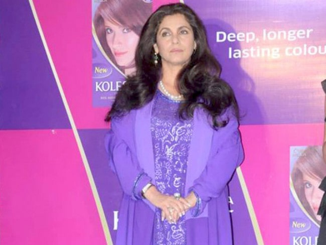 Dimple Kapadia during an event
