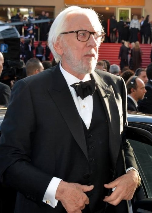 Donald Sutherland as seen in a picture taken at the Cannes festival in May 2016