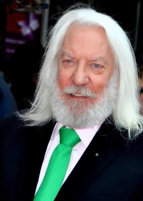 Donald Sutherland as seen in a picture taken in Paris in June 2012