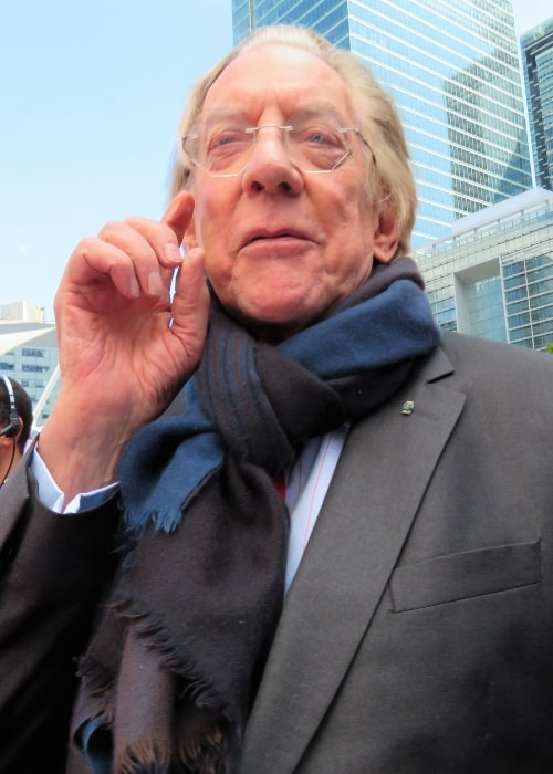 Donald Sutherland at the premiere of The Leisure Seeker, September 2017 Toronto Film Festival