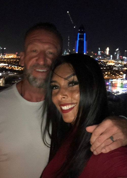 Dorian Yates and Glauce Ferreira as seen in December 2018