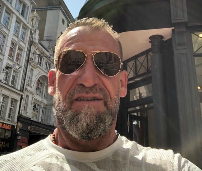 Dorian Yates in an Instagram selfie as seen in June 2019