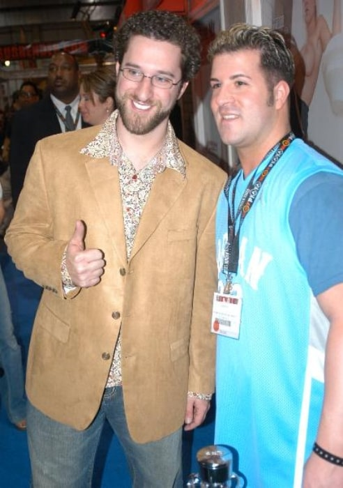 Dustin Diamond (Left) as seen while posing for the camera at the 2007 Adult Entertainment Expo in January 2007