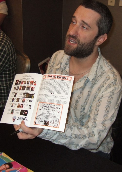 Dustin Diamond as seen in a picture taken at the Chiller Theatre Expo at the Sheraton Parsippany Hotel in Parsippany, Morris County, New Jersey, United States in October 2012