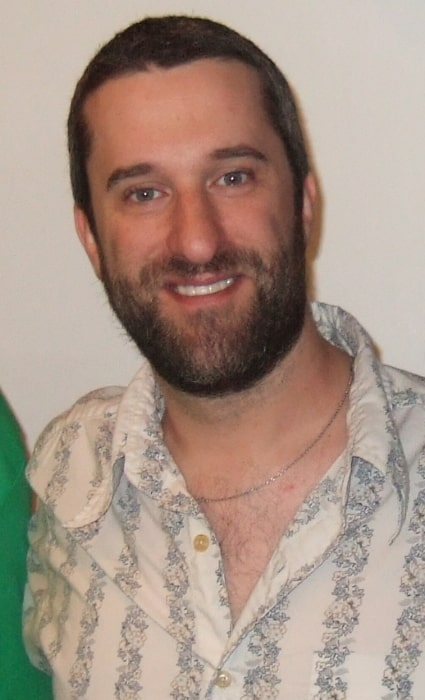 Dustin Diamond as seen while smiling in a picture at the Chiller Theatre Expo in Parsippany, Morris County, New Jersey, United States in October 2012