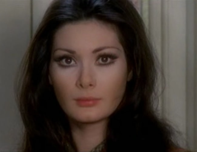 Edwige Fenech as seen in a screenshot from the film 'Tutti i colori del buio' (1972)
