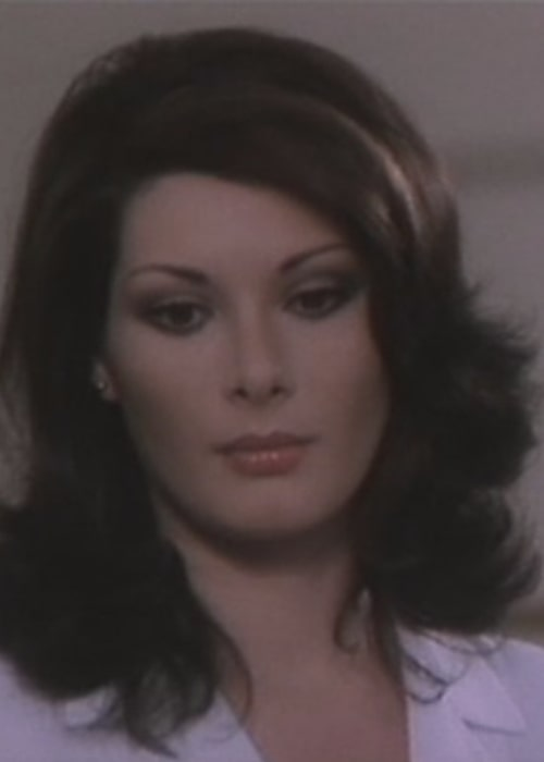 Edwige Fenech as seen in a screenshot from the movie 'The doctor of the military district' (1976)