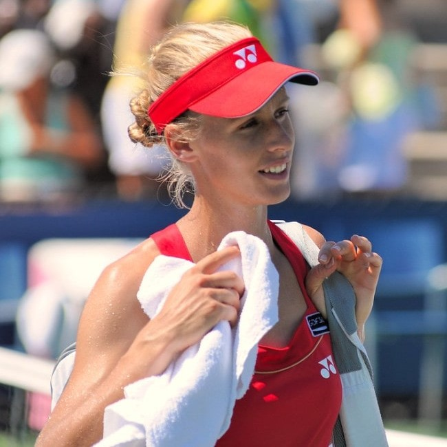 Elena Dementieva as seen in August 2010