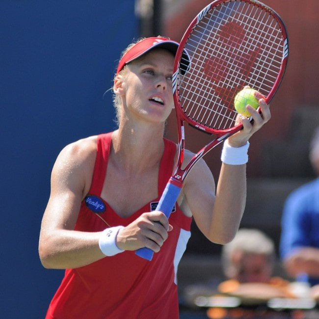 Elena Dementieva at the US Open as seen in August 2010
