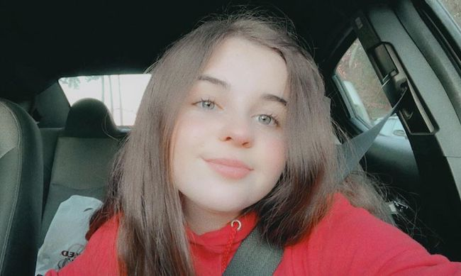 Emma Shannon in a car selfie in November 2019