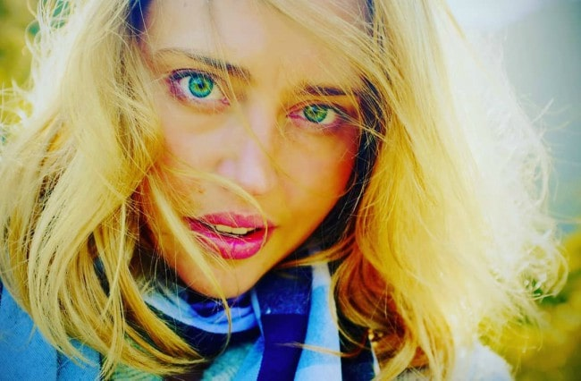 Estella Warren in an Instagram selfie as seen in December 2018