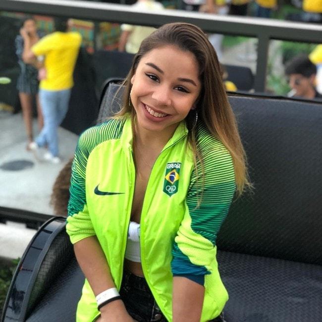 Flávia Saraiva as seen in July 2018