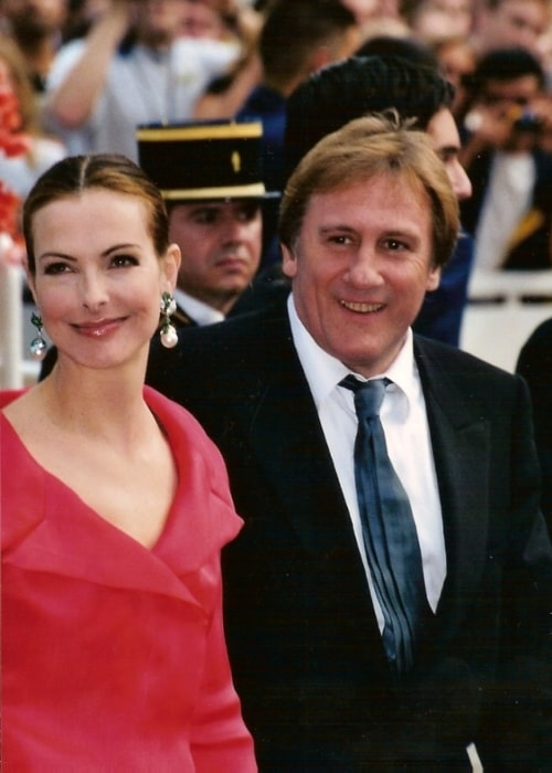 Gérard Depardieu as seen in a picture alongside Carole Bouquet during an event in 2001