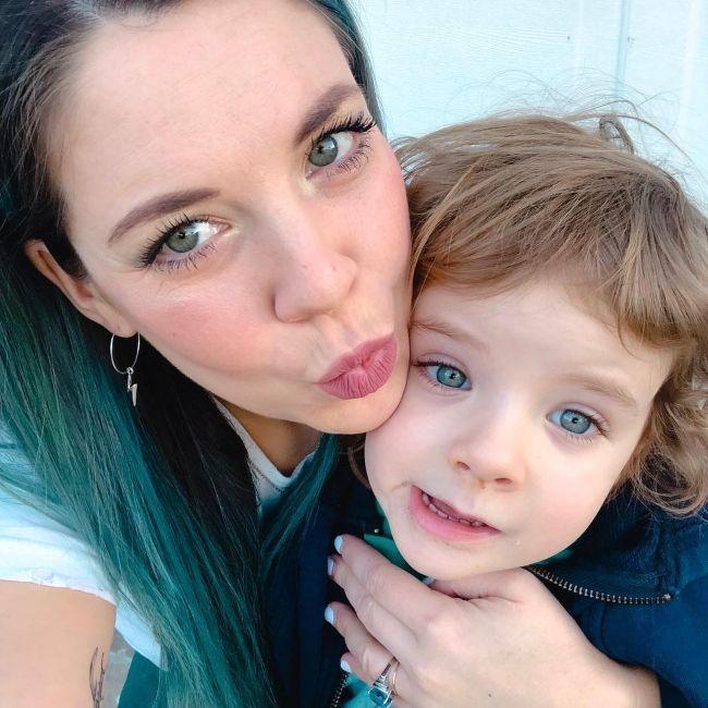 Hannah Williams with her son Wyatt in February 2019