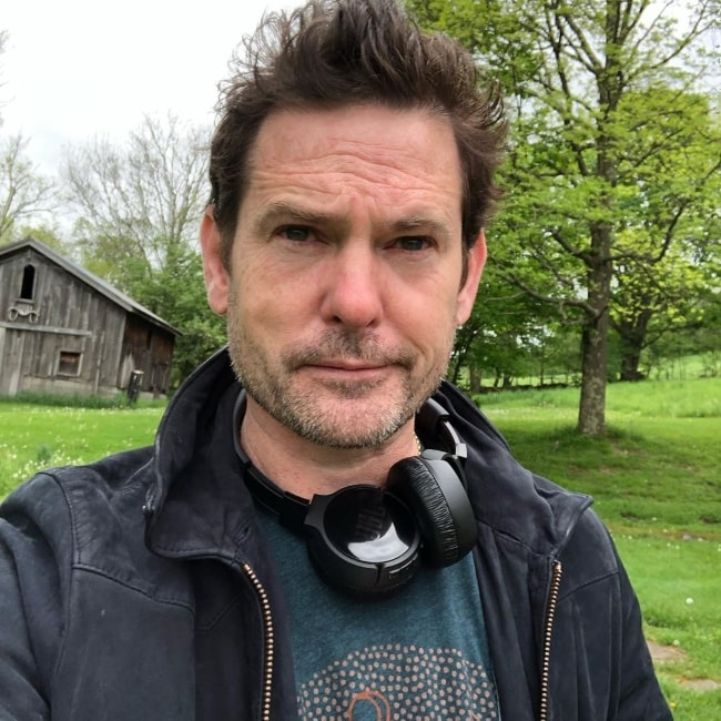 Henry Thomas as seen while clicking a selfie in New York, United States in May 2019