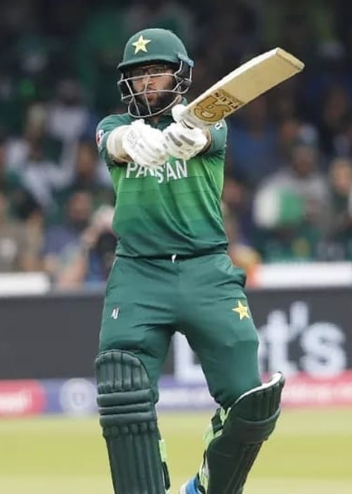 Imam-ul-Haq as seen in a picture taken during a match which was uploaded to his profile in October 2019