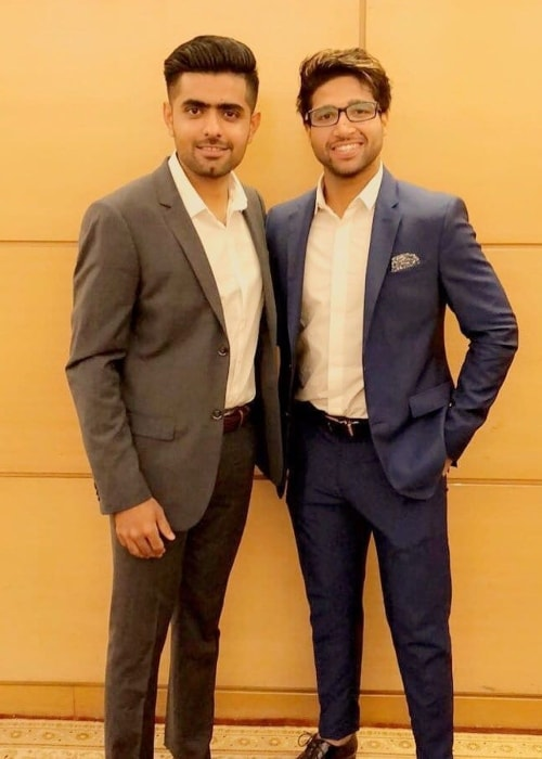 Imam-ul-Haq as seen in a picture with his close friend and teammate Babar Azam in May 2019