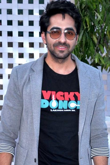 Indian actor Ayushmann Khurrana as seen in 2012