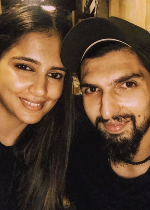 Ishant Sharma as seen in a selfie taken with his wife Pratima Singh September 2019