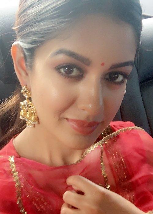 Ishita Dutta in a car selfie in October 2019
