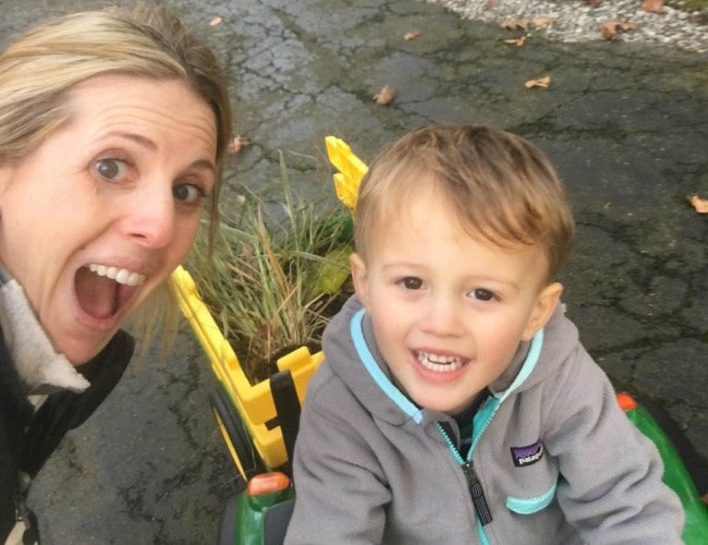 Jade McCarthy in a selfie with her son as seen in November 2018
