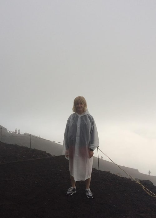 Jane Horrocks as seen in a picture taken at Mount Fuji in July 2017