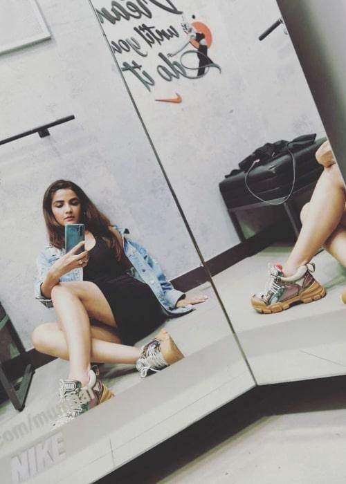 Jasmin Bhasin as seen in a selfie taken in September 2019