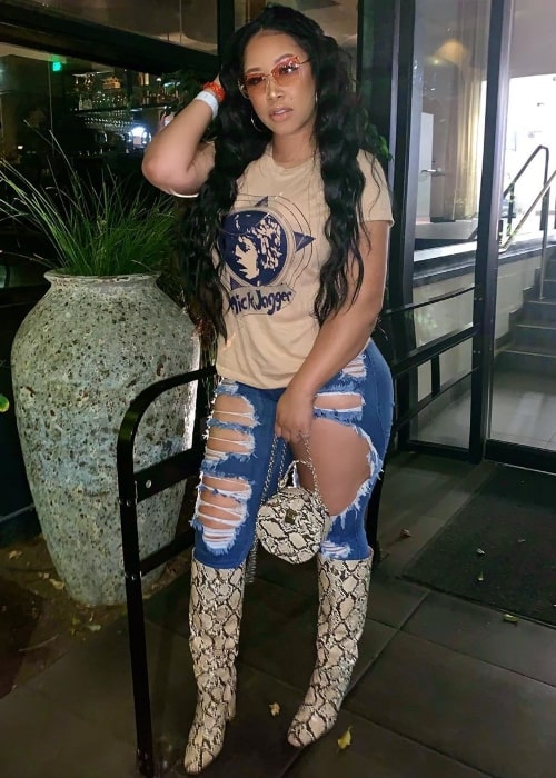 Jasmin Jaye as seen while posing for the camera in August 2019