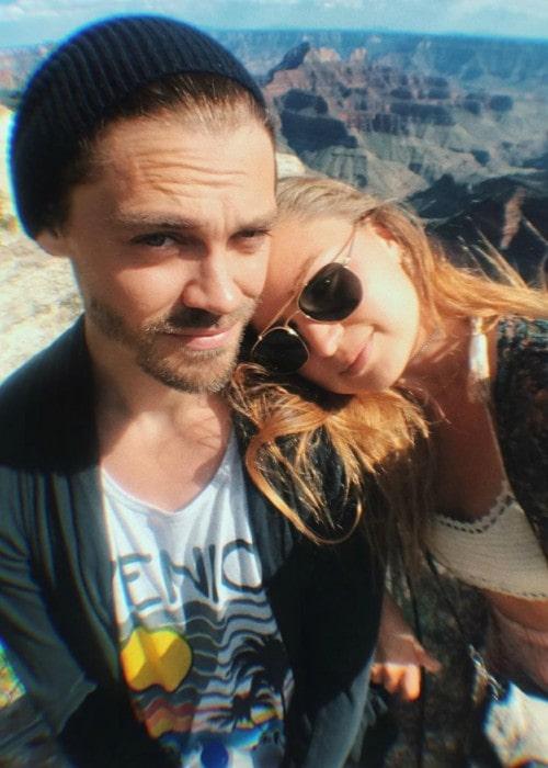 Jennifer Åkerman and Tom Payne in a selfie as seen in June 2019